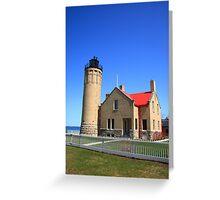 Lighthouse - Mackinac Point, Michigan Greeting Card
