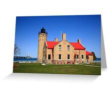 Lighthouse and Mackinac Bridge Greeting Card
