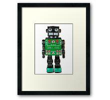 Smoking Kaiju Robot Framed Print