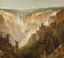 The Grand Canyon of the Yellowstone by Bridgeman Art Library