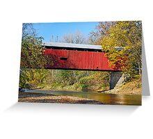 Dick Huffman Covered Bridge, Putnam County Indiana Greeting Card