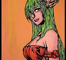 Fairy Native - Original Art Print by Arek619