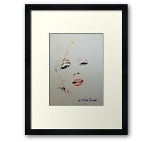 Marilyn, Charcoal and Pastel Framed Print