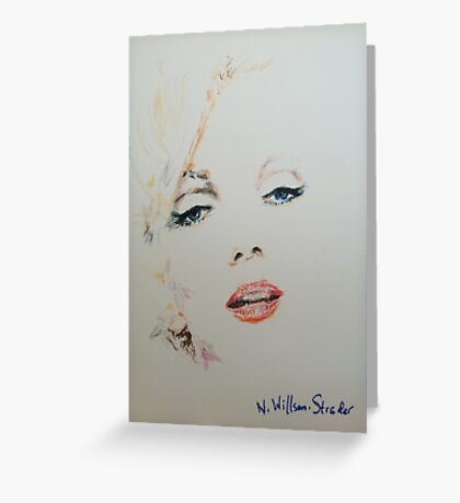 Marilyn, Charcoal and Pastel Greeting Card
