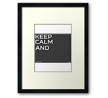 CSGO Console KEEP CALM AND voice_enable 0 Framed Print