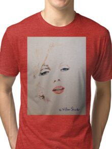 Marilyn, Charcoal and Pastel Tri-blend T-Shirt