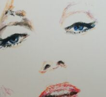 Marilyn, Charcoal and Pastel Sticker