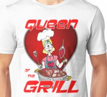 Queen of the Grill White Unisex T-Shirt