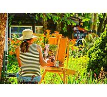 Art in the Garden Photographic Print