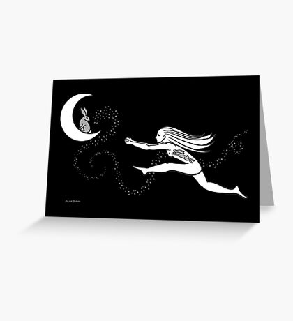 Rabbit in the Moon Greeting Card