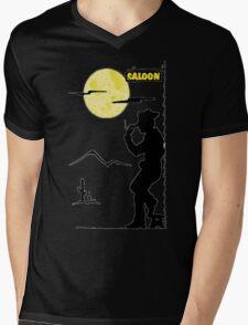 Cowboy Saloon Mens V-Neck T-Shirt