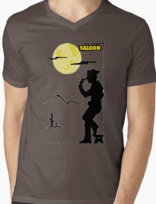 Cowboy Saloon Mens V-Neck T-Shirt