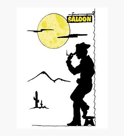 Cowboy Saloon Photographic Print