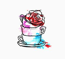 Watercolour Rose Teacups Unisex T-Shirt