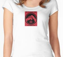 It's not about style. (Red background, small) Women's Fitted Scoop T-Shirt