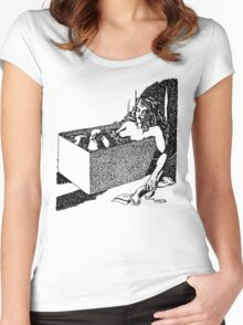 Tub Death. Women's Fitted Scoop T-Shirt