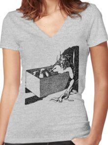 Tub Death. Women's Fitted V-Neck T-Shirt