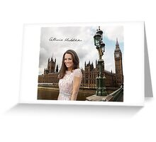 Kate Middleton and the Houses of Parliament Greeting Card