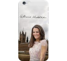 Kate Middleton and the Houses of Parliament iPhone Case/Skin