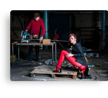 Mellisa liked to be right at the cutting edge Canvas Print