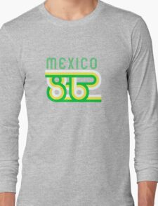 Retro Mexico '86 vintage soccer shirt Long Sleeve T-Shirt