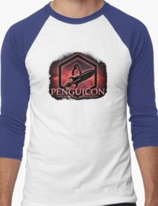 Ltd Edition Red Penguicon Galaxy Men's Baseball ¾ T-Shirt