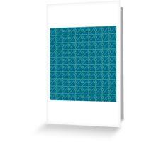 Geometric blue pixel pattern Greeting Card