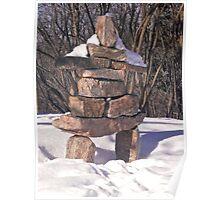 Inuksuk in the Snow Poster