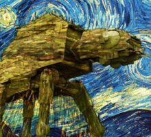 Vincent van Gogh's Starry Night Meets Star Wars Sticker