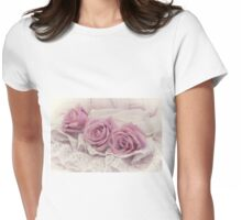 Roses And Beaded Lace  Womens Fitted T-Shirt