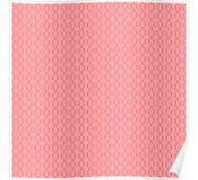Geometric pink pixel pattern Poster