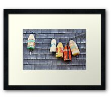 Buoys Framed Print