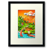 tentacle attack in the pirate bay Framed Print