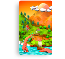 tentacle attack in the pirate bay Canvas Print