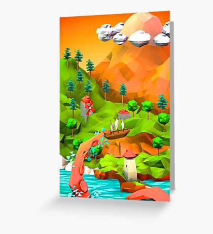 tentacle attack in the pirate bay Greeting Card
