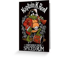 Kaptain's Rum Greeting Card