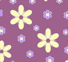 Yellow purple floral pattern by cycreation