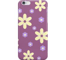 Yellow purple floral pattern iPhone Case/Skin