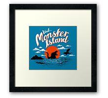 Monster Island Framed Print