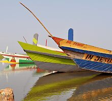 Fishing Boats on Lake Volta by Gemma Keir