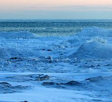 Lake Michigan in Sheboygan, Wisconsin on 2-19-2013 by Karen Abraham