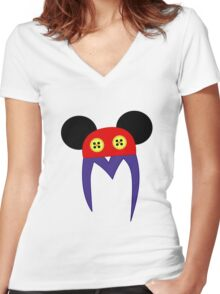 Mickey M Women's Fitted V-Neck T-Shirt