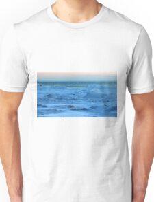 Lake Michigan in Sheboygan, Wisconsin on 2-19-2013 Unisex T-Shirt