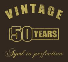 Vintage 50th Birthday T-Shirt by thepixelgarden