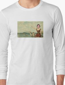 Neutral Milk Hotel - Jeff Mangum on In the Aeroplane Over the Sea Cover Long Sleeve T-Shirt
