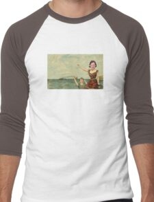 Neutral Milk Hotel - Jeff Mangum on In the Aeroplane Over the Sea Cover Men's Baseball ¾ T-Shirt