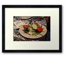 Yummy Salad Framed Print