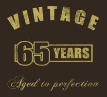 Vintage 65th Birthday T-Shirt by thepixelgarden