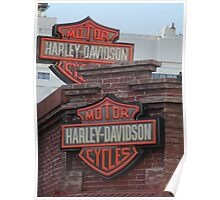 Neon Harley Davidson Signs Poster