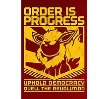 ORDER IS PROGRESS Photographic Print